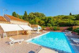 Бассейн. Греция, Лефкими : Прекрасная вилла с бассейном и двориком с барбекю, 2 спальни, 2 ванные комнаты, парковка, Wi-Fi
