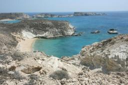 Пляж Хилиадерфия в Айос Николасе