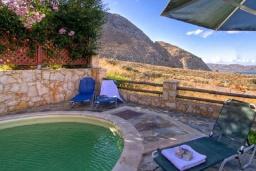 Бассейн. Греция, Каливес : Прекрасная вилла с бассейном и зеленым двориком с барбекю, 4 спальни, 2 ванные комнаты, парковка, Wi-Fi