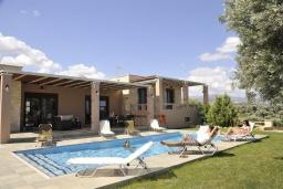 Бассейн. Греция, Скалета : Роскошная вилла с бассейном и зеленым двориком с барбекю, 5 спален, 3 ванные комнаты, парковка, Wi-Fi