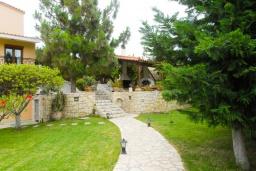 Территория. Греция, Ираклион : Шикарная вилла с бассейном и зеленым двориком, 5 спален, 3 ванные комнаты, барбекю, парковка, Wi-Fi