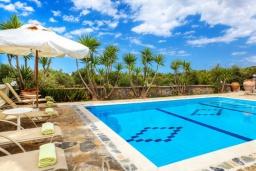 Бассейн. Греция, Сиси : Роскошная вилла с бассейном и зеленым двориком, 6 спален, 2 ванные комнаты, барбекю, парковка, Wi-Fi