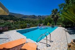 Бассейн. Греция, Плакиас : Роскошная вилла с большим бассейном и зеленым двориком с барбекю, 4 спальни, 4 ванные комнаты, парковка, Wi-Fi