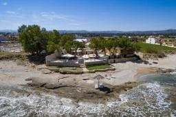 Ближайший пляж. Греция, Ретимно : Шикарная пляжная вилла с бассейном и зеленой территорией, 4 спальни, 3 ванные комнаты, барбекю, патио, парковка, Wi-Fi