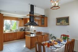 Кухня. Греция, Ретимно : Роскошная вилла с большим бассейном и зеленым садом с барбекю, 5 спален, 5 ванных комнат, парковка, Wi-Fi