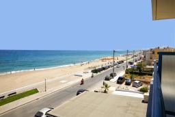 Ближайший пляж. Греция, Ретимно : Прекрасная студия с балконом и шикарным видом на море, 20 метров до пляжа