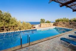 Бассейн. Греция, Элафониси : Прекрасная вилла с видом на море, с 4 спальнями, с бассейном, патио и барбекю