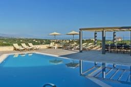 Бассейн. Греция, Скалета : Шикарная вилла с видом на море и горы, с 5 спальнями, с большим бассейном, зелёной территорией, тенистой террасой с патио и барбекю, расположена в прекрасной традиционной деревне Asteri