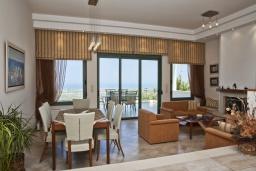 Гостиная. Греция, Аделе : Потрясающая вилла с 4 спальнями, с бассейном, зелёным двориком, патио, барбекю и террасой с прекрасным видом на окрестности