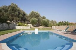 Бассейн. Греция, Аделе : Потрясающая вилла с 4 спальнями, с бассейном, зелёным двориком, патио, барбекю и террасой с прекрасным видом на окрестности
