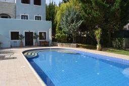 Бассейн. Греция, Ретимно : Прекрасная вилла с 3 спальнями, с бассейном, красивым садом, патио и каменным барбекю, расположена на окраине тихой деревни Prines