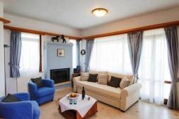 Гостиная. Греция, Скалета : Уютная вилла с бассейном в 150 метрах от пляжа, 3 спальни, 3 ванные комнаты, барбекю, парковка, Wi-Fi