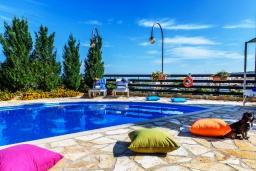Бассейн. Греция, Ретимно : Роскошная вилла с бассейном и зеленым двориком с барбекю, 4 спальни, 2 ванные комнаты, парковка, Wi-Fi