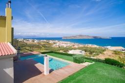 Вид на море. Греция,  Ханья : Роскошная вилла с бассейном и видом на море, 6 спален, 5 ванных комнат, тренажерный зал, настольный теннис, барбекю, парковка, Wi-Fi
